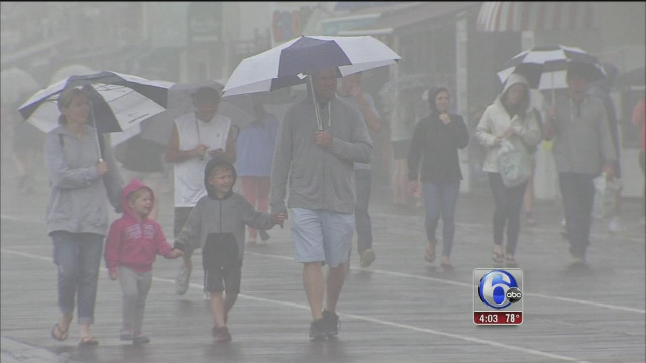VIDEO: Rainy Memorial Day at the shore
