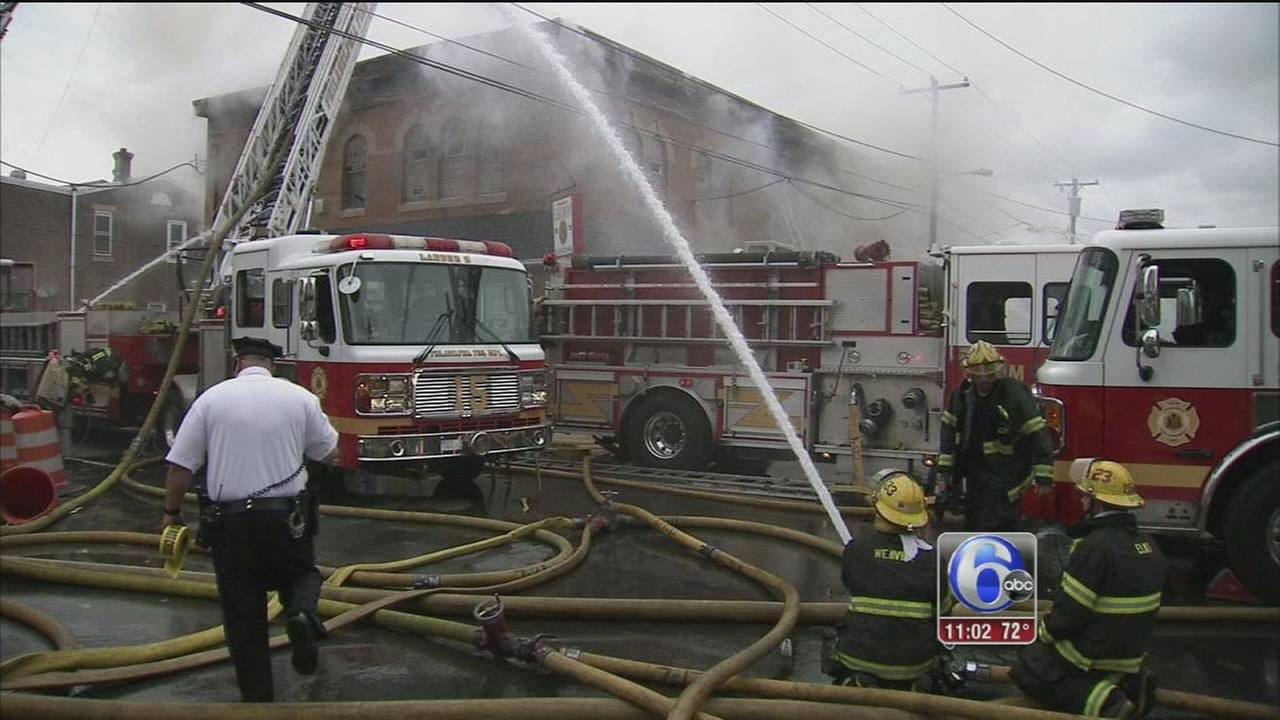 VIDEO: Firefighters battle 4 alarm blaze at American Legion post