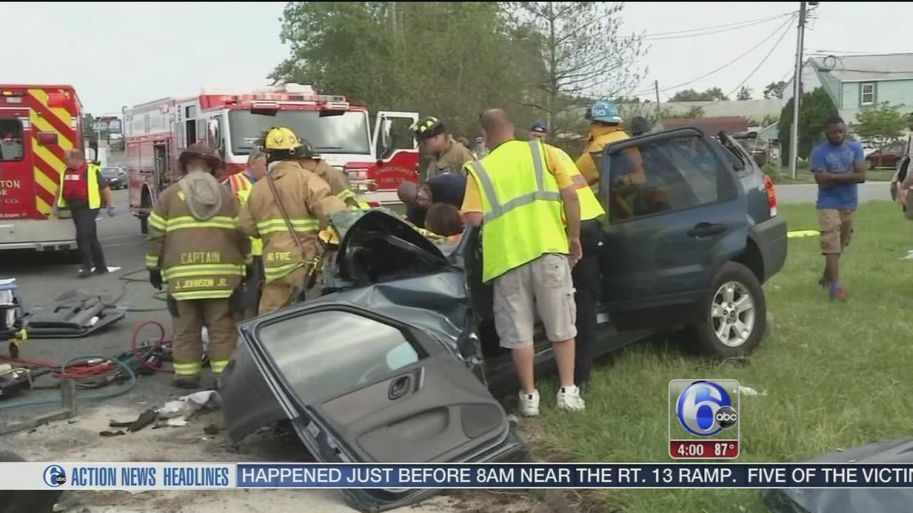 VIDEO: Students among injured in New Castle crash