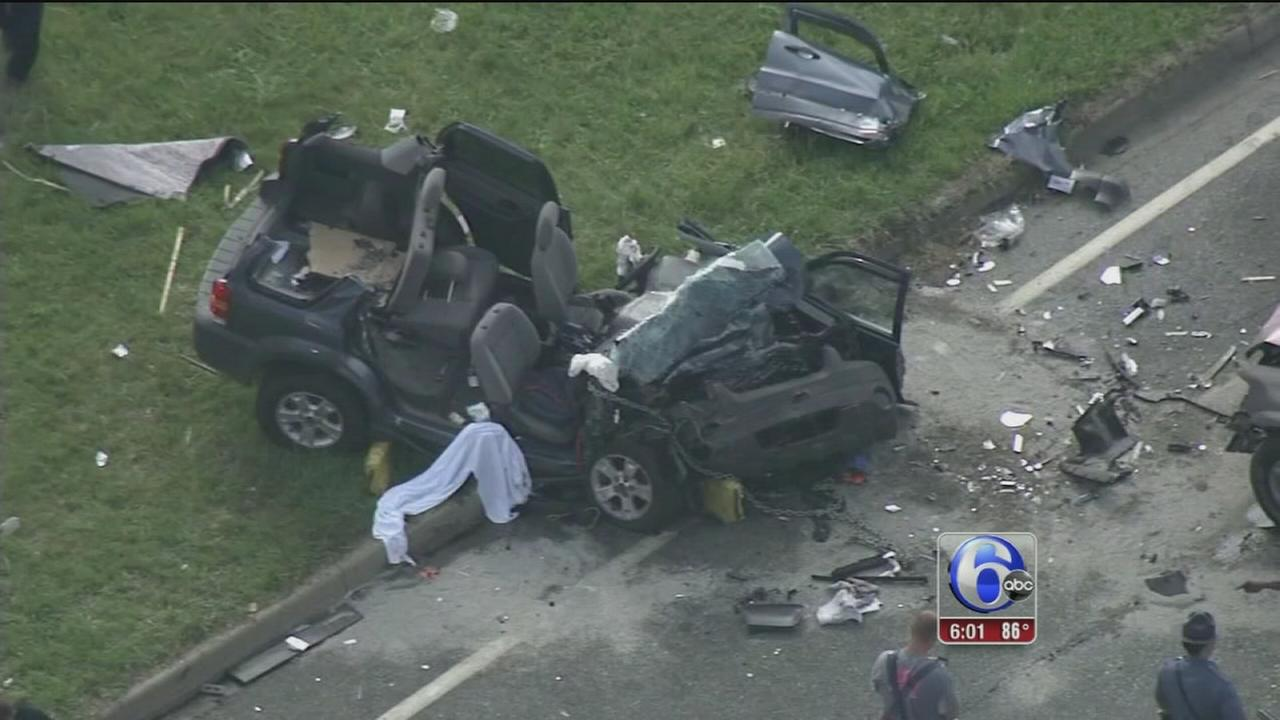VIDEO: Crash injures 7 in New Castle
