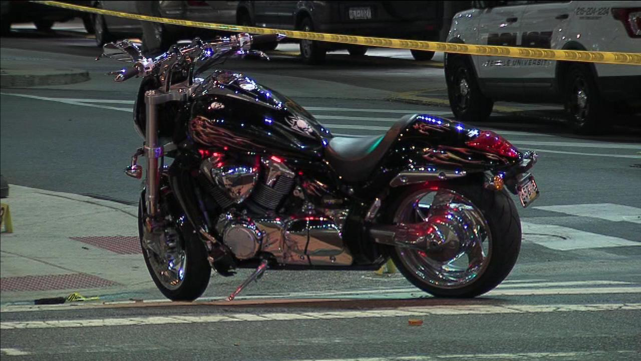 June 1, 2016: Police say the off-duty officers motorcycle collided with a Chevrolet Monte Carlo. After the crash, the officer fired three shots at the Monte Carlo as it sped away.