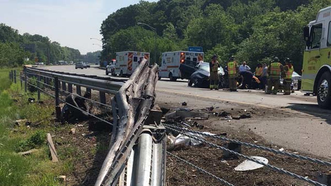 1 injured in fiery I-95 crash in Lower Chichester