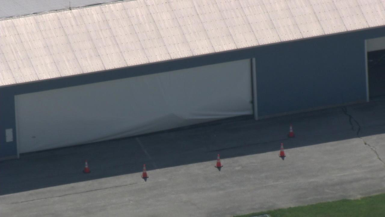 June 1, 2016: New Garden Police tell Action News a couple was trying to take off in a 1940s-era Aeronca Champ two-seat aircraft when the plane lost power and struck a hangar.