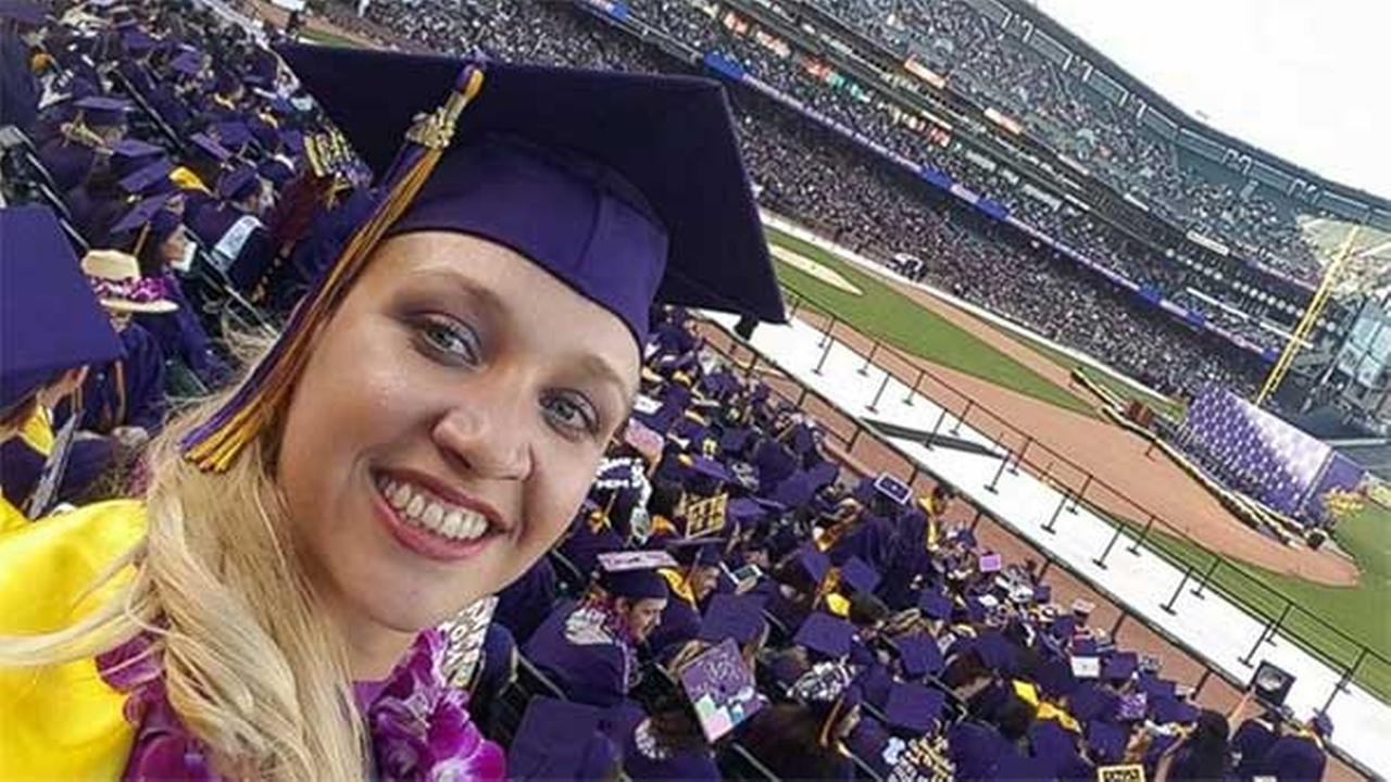 Jillian Sobol, 31, graduated from San Francisco State University on May 27, 2016, over 30 years after she was abandoned there.