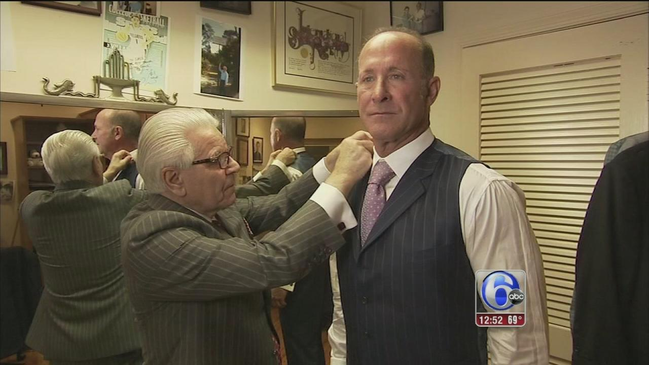 VIDEO: Jay Wrights winning wardrobe thanks to longtime Delco tailor