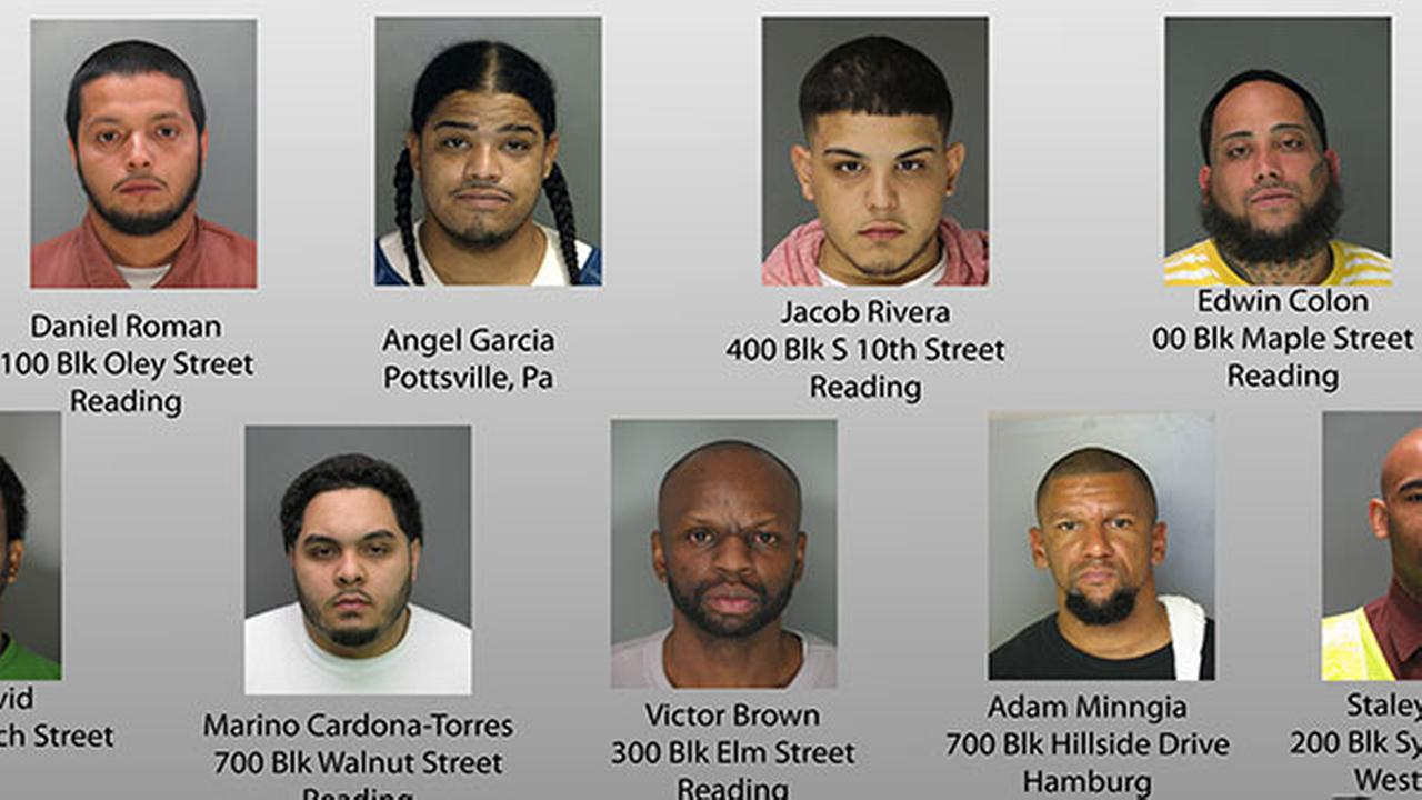 48 charged in major drug bust in Berks County