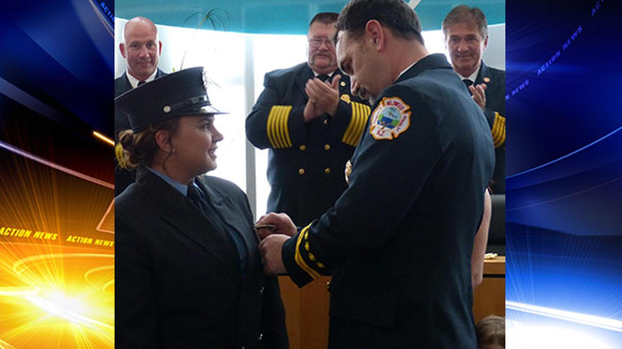 First female firefighter in Wildwood