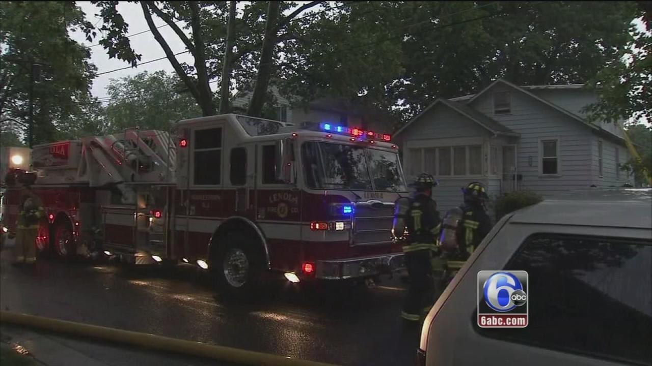 VIDEO: Moorestown fire