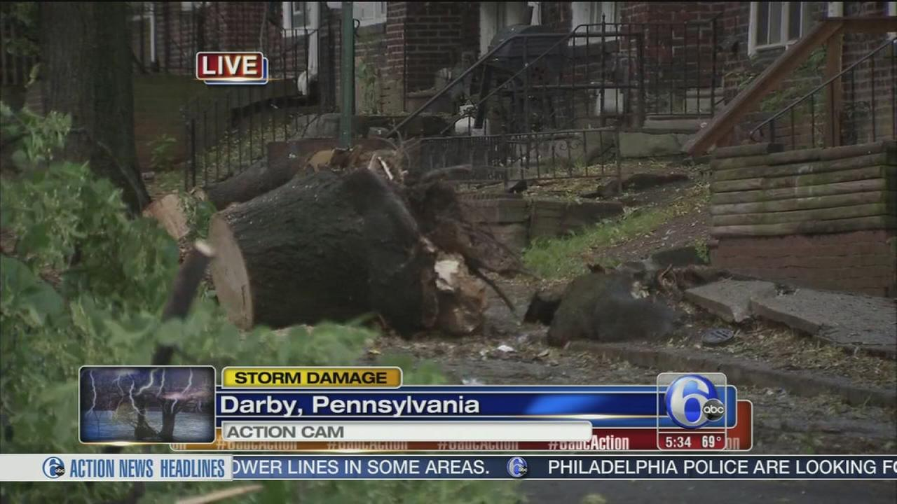 VIDEO: Cleanup follows powerful storms