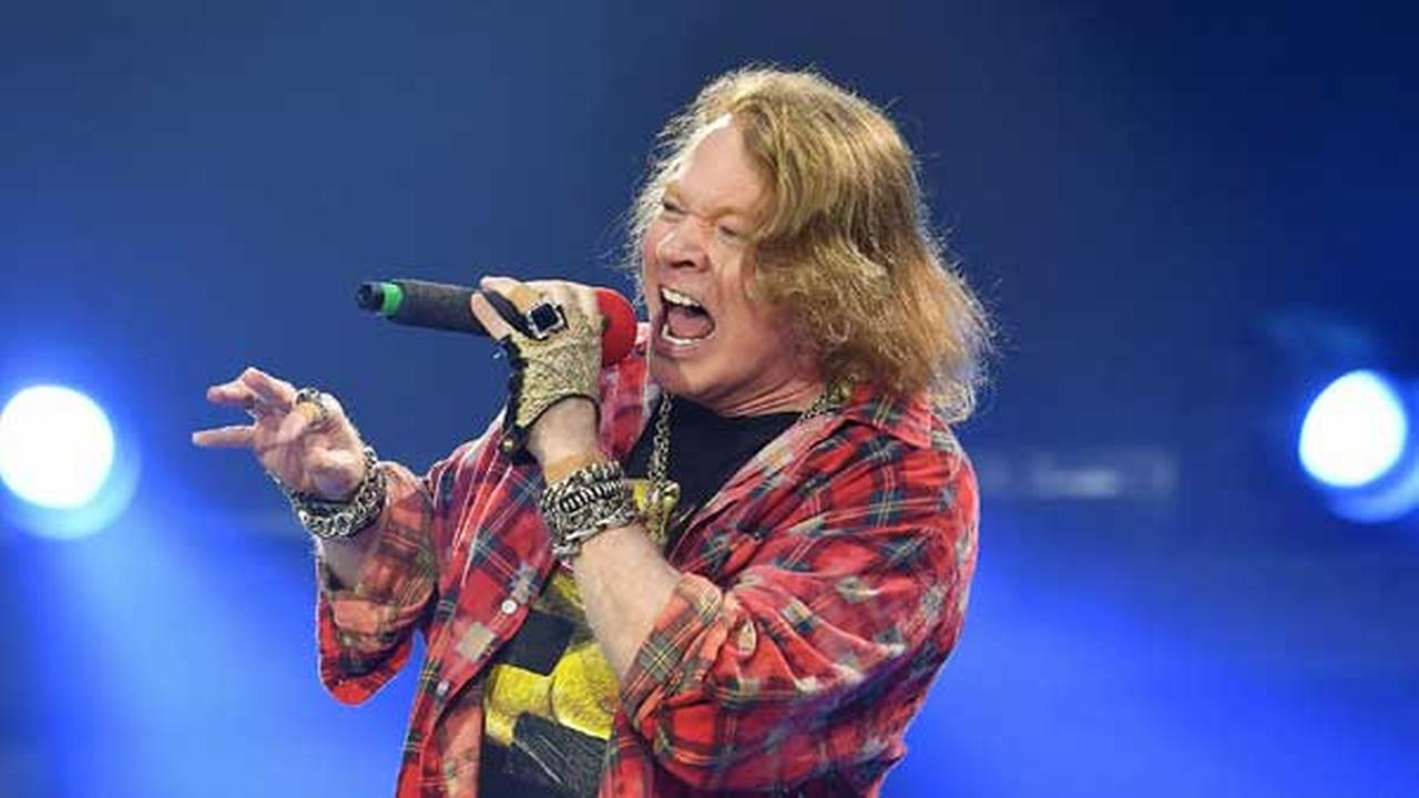 Axl Rose performs at the Olympic Stadium in London, Saturday, June 4, 2016.