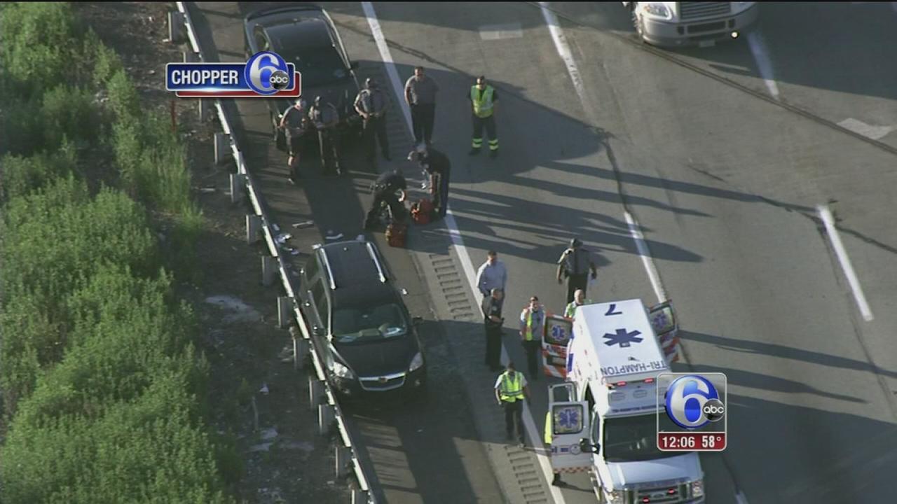 VIDEO: Crash slows traffic on Pa. Tpk.
