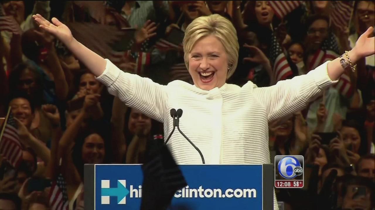 VIDEO: Clinton seizes historic primary win