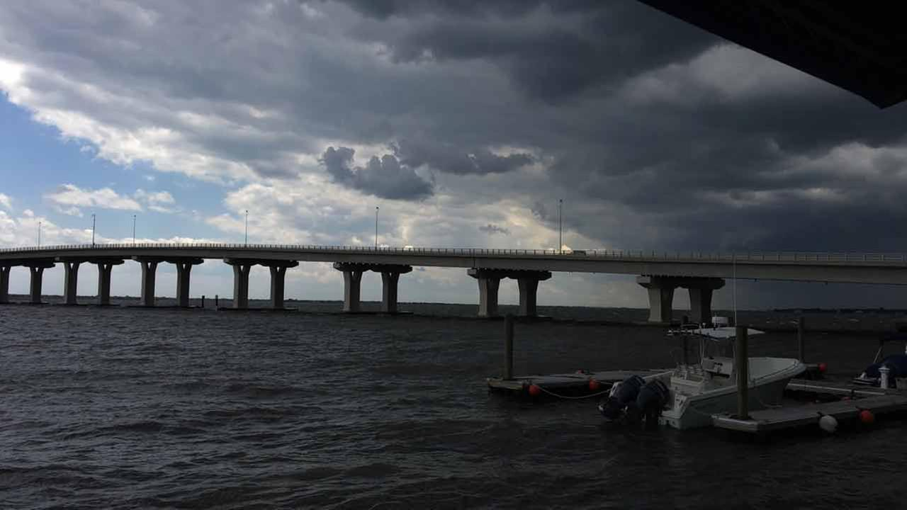 Action News viewer Jamie Fiorillo sent in this photo of the storm clouds above the 9th Street Bridge in Somers Point, NJ.