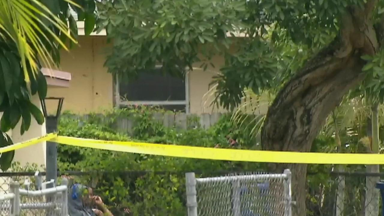 June 8, 2016: Police told reporters that officers responding to a call for help found the children inside an apartment behind a home in Miramar, Fla.