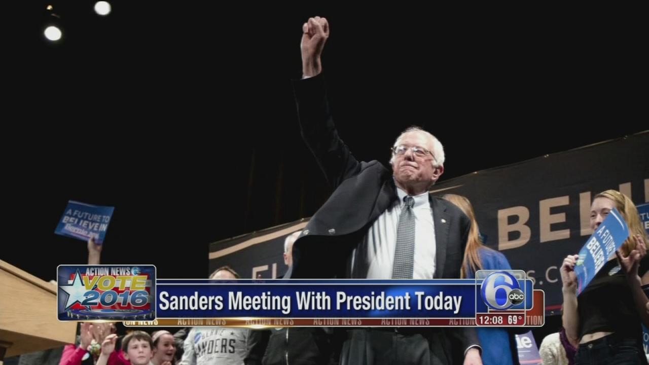 VIDEO: Bernie Sanders meeting with President Obama Thursday