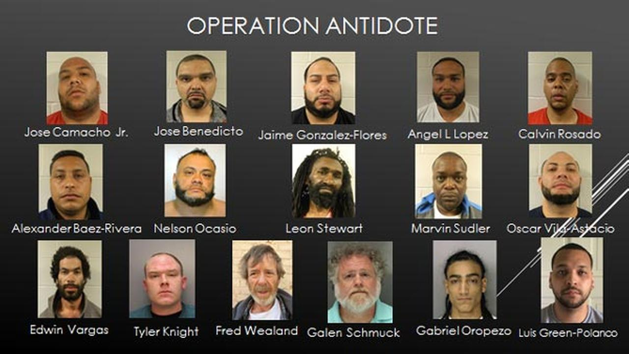 Police in Berks County have busted a huge drug operation and served arrest warrants for more than 40 people.