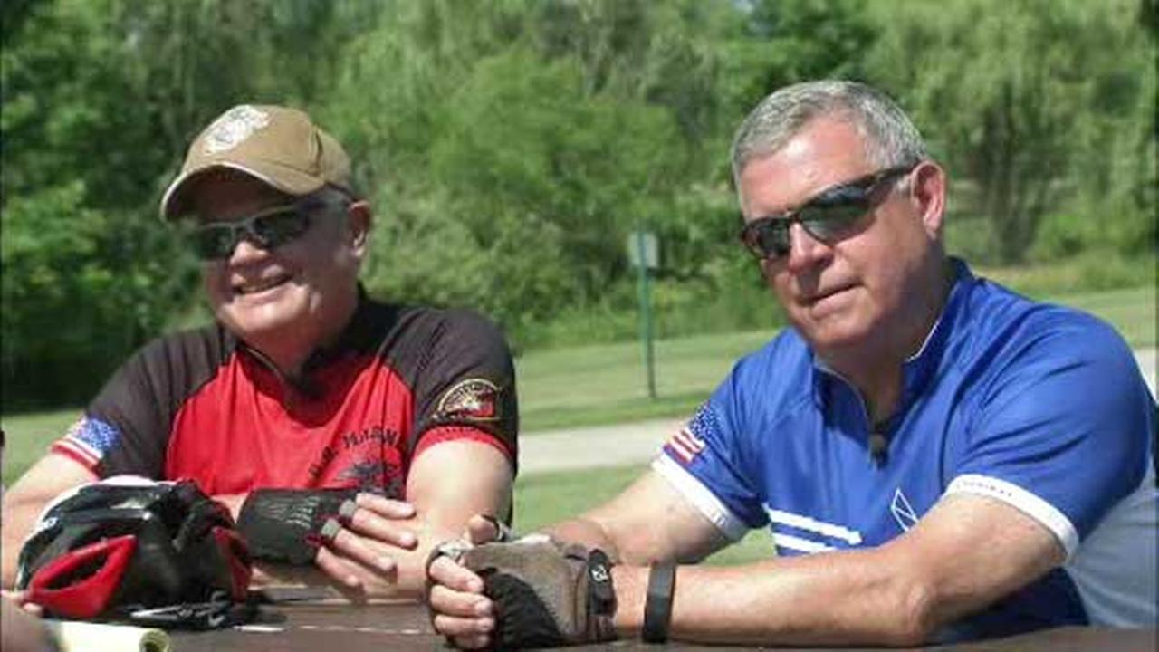 3,400 riders have signed up for Sundays Bridge to the Beach bike-a-thon, including two military veterans whose friendship was forged by the fight against cancer.