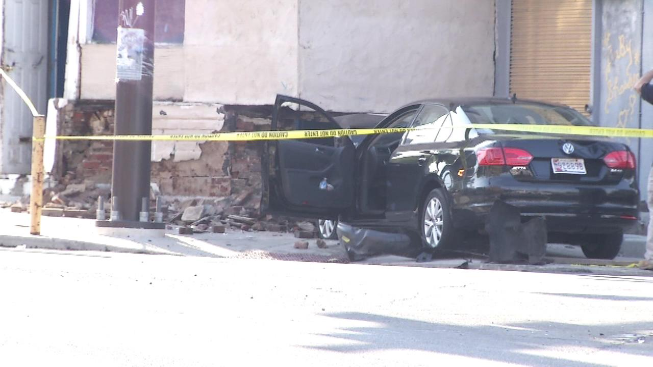 Pictured: The scene of a crash at 19th and West Lehigh in North Philadelphia.