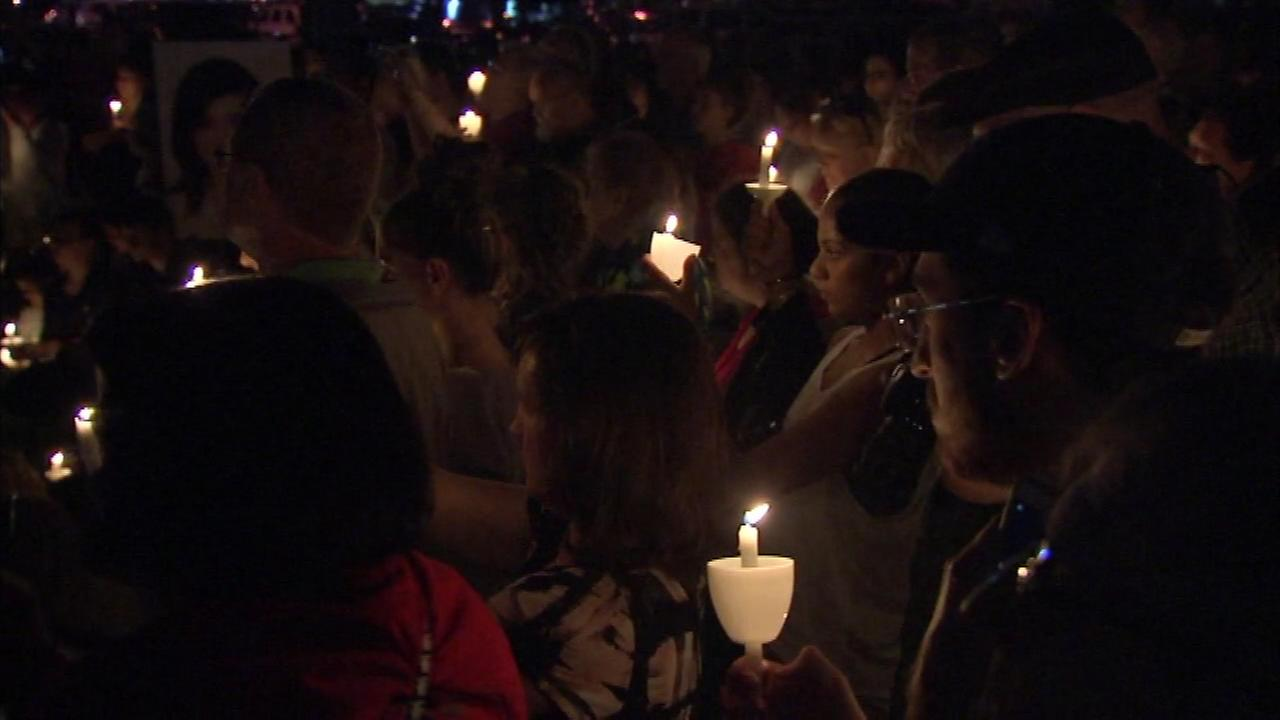 A South Jersey community held a candlelight vigil in honor of Evesham Township native Christina Grimmie who was gunned down after a Florida concert.