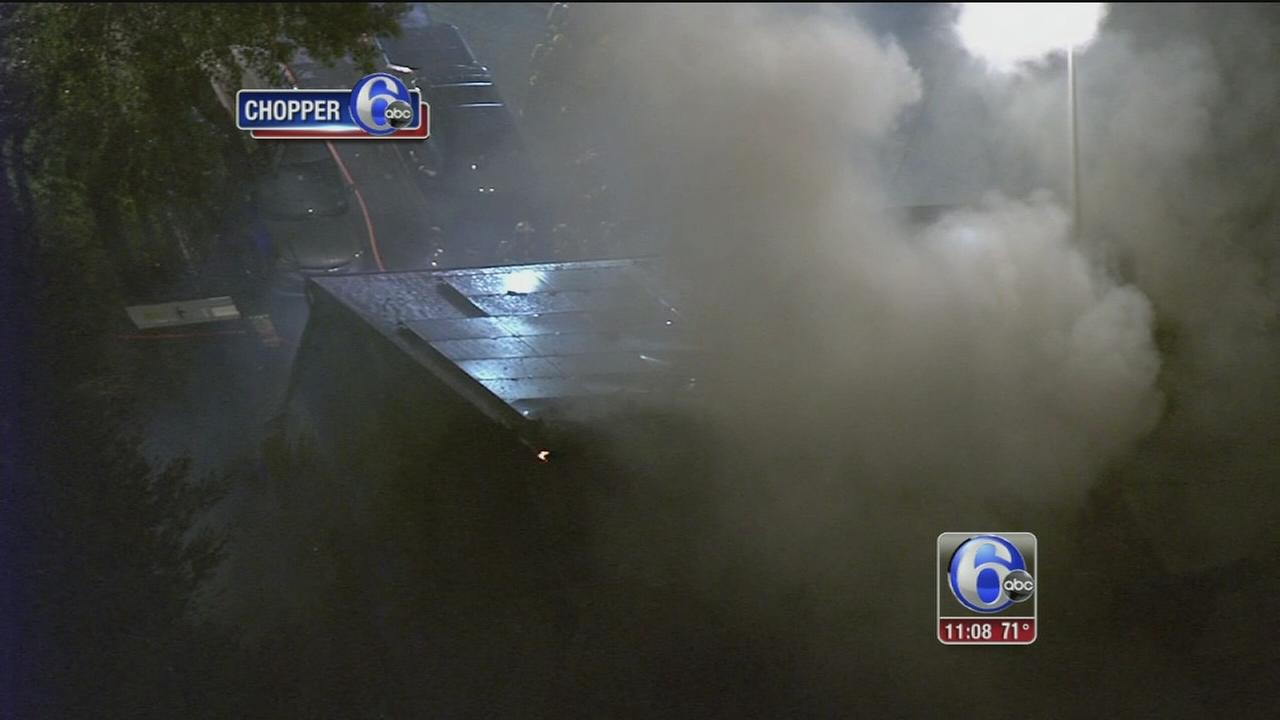 VIDEO: Fire in Ewing Township