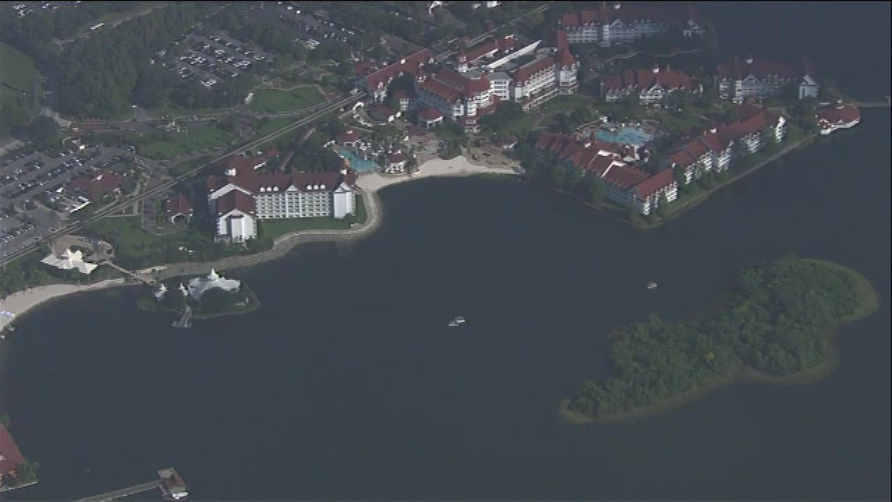 June 15, 2016: A search was underway in the Seven Seas Lagoon near Disneys upscale Grand Floridian Resort and Spa.