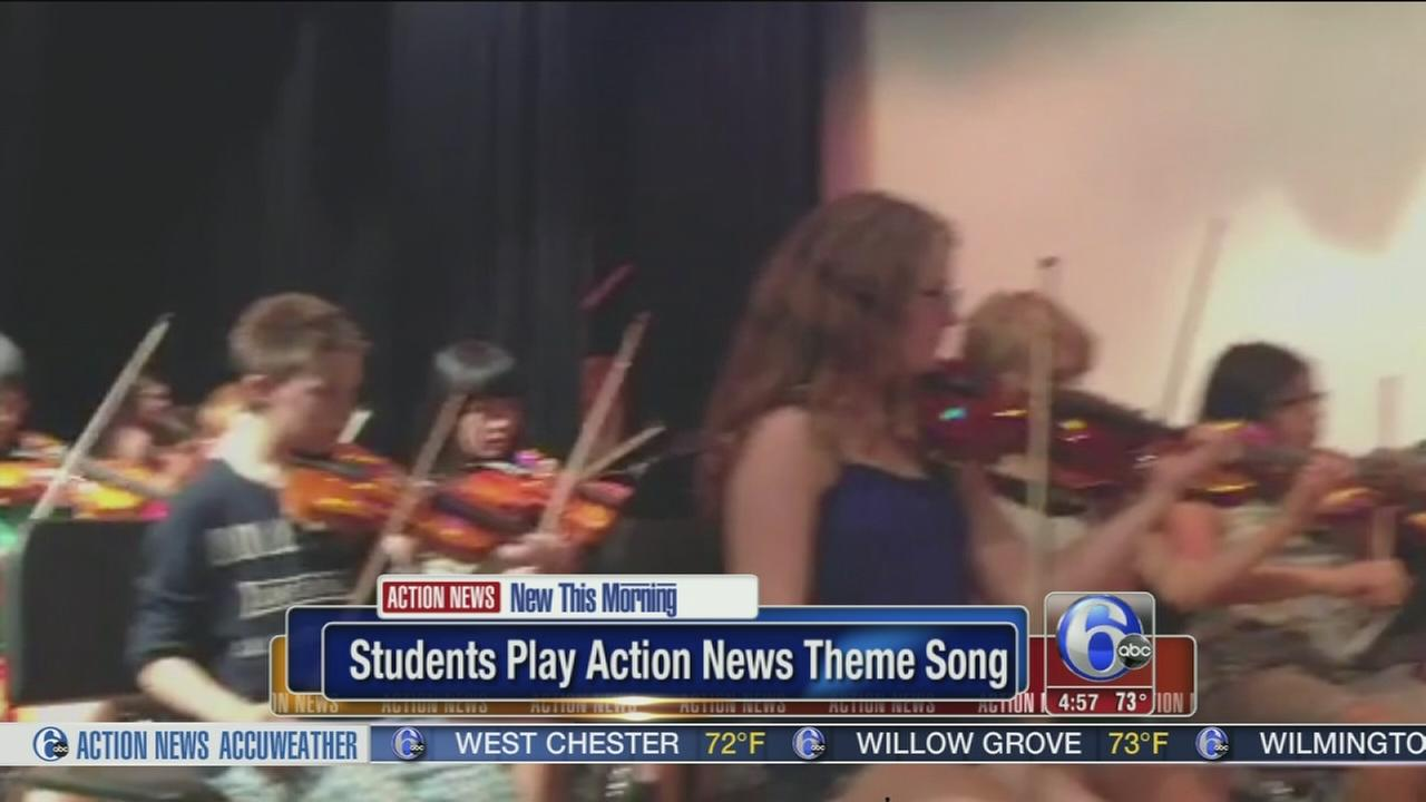 VIDEO: Students play Action News theme song