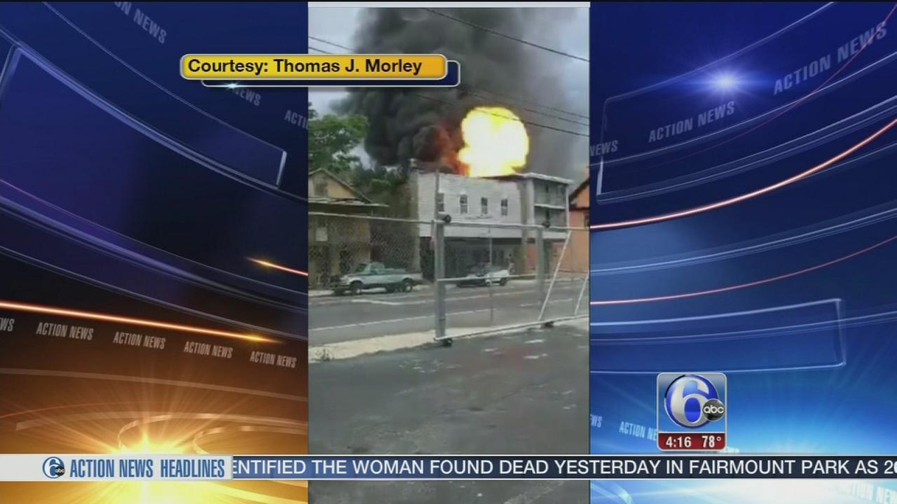 VIDEO: Fire, explosion in Coatesville caught on video