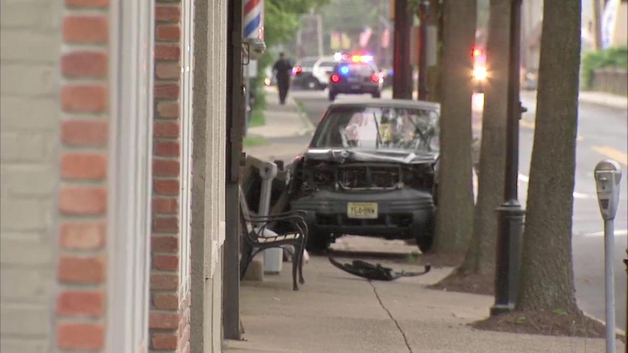 June 16, 2016: Police tell Action News an attempted theft and car chase ended with a homeowner shooting and wounding a suspect in Morrisville, Pa.