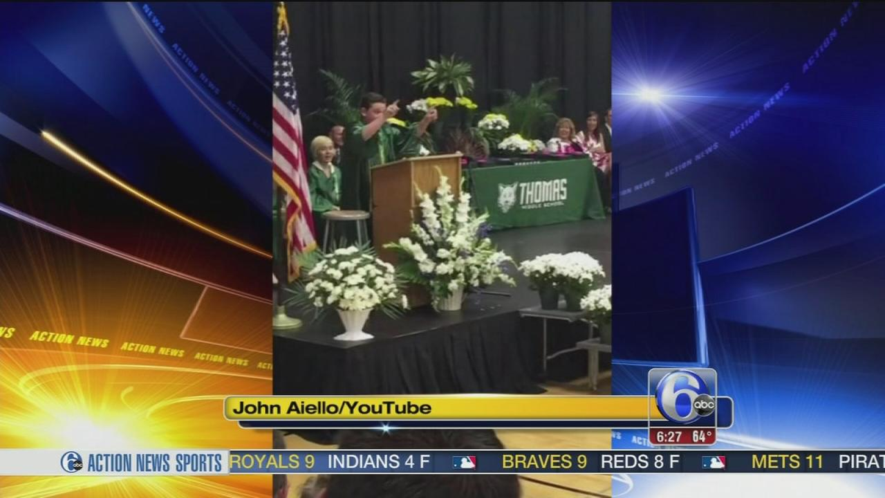 VIDEO: 8th grader graduation speech goes viral