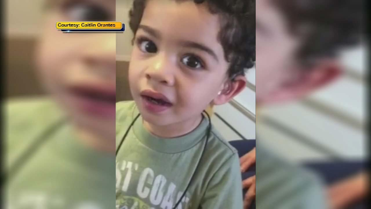 Little boy lights up the moment hearing aids turn on for 1st time