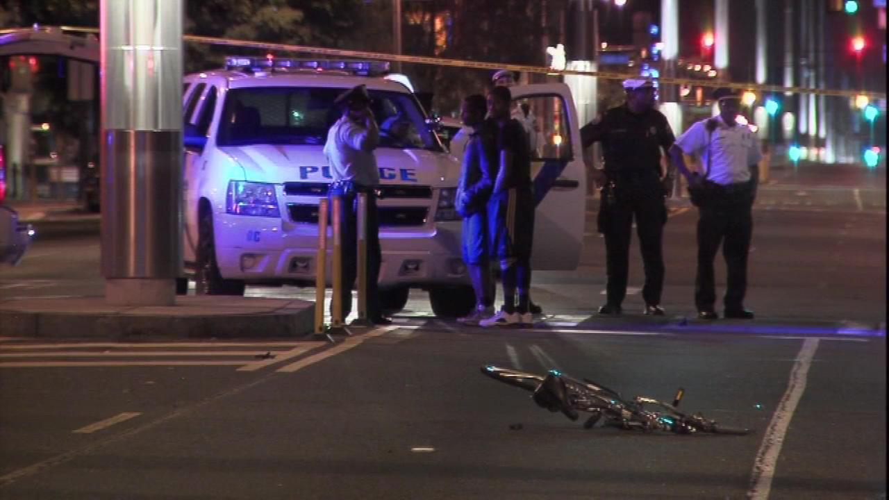 June 17, 2016: Police say two boys, both 16 years old, were riding on the same bicycle when they were struck by a red sports car in the 600 block of North Broad St.