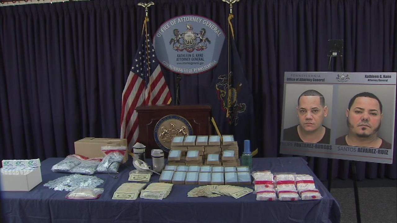 Pictured: The results of a heroin distribution investigation in Philadelphia