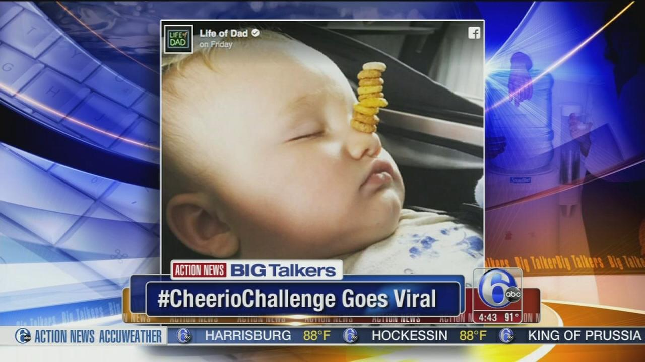 VIDEO: Cheerio Challenge goes viral