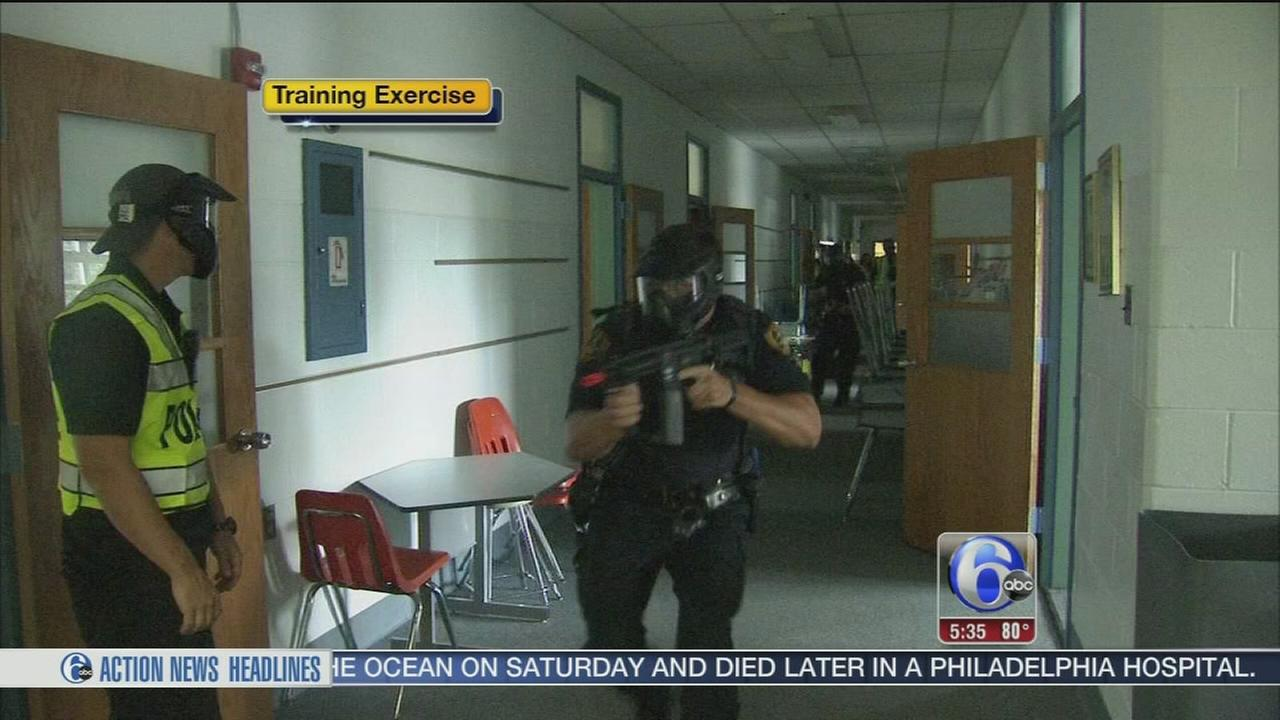 VIDEO: Training exercise in Bryn Mawr
