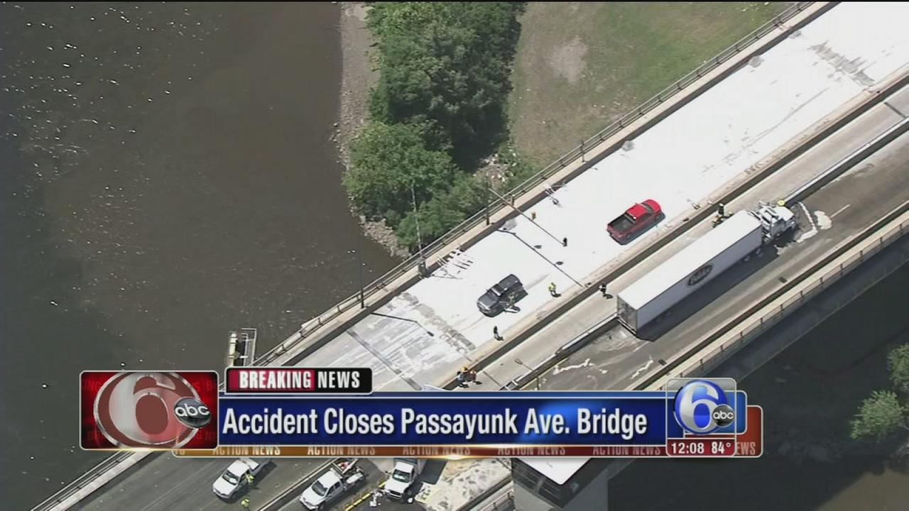 VIDEO: Crash closes Passyunk Ave. Bridge