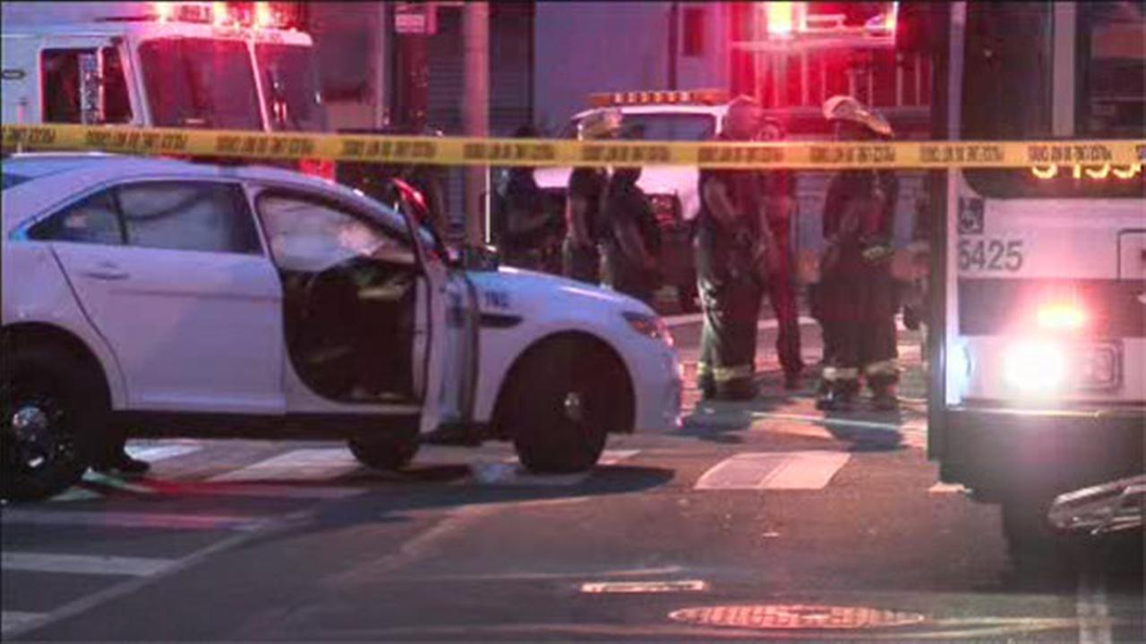 Philly Officer injured after cruiser and SEPTA bus collide