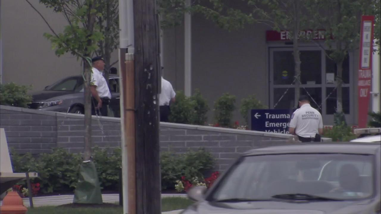 June 24, 2016: A police officer from Folcroft, Pa. shot multiple times in the line of duty was taken to Penn Presbyterian Medical Center.