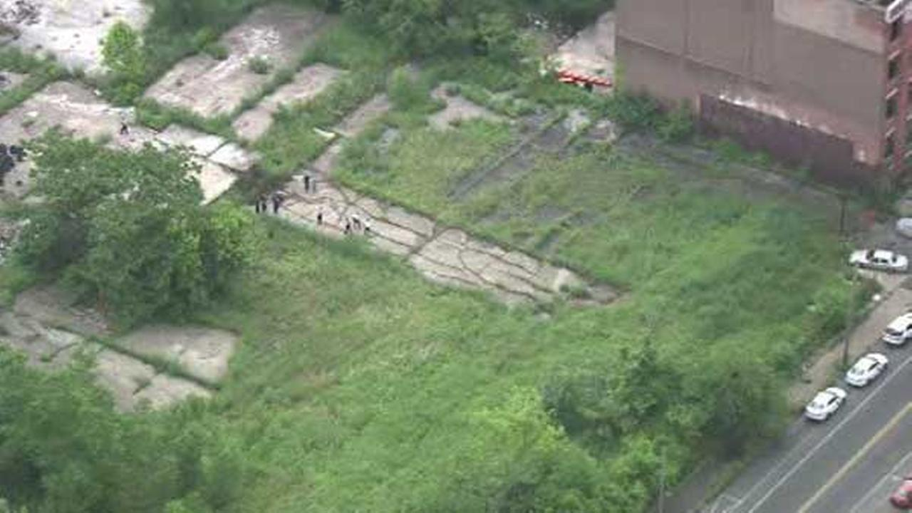 Charred human remains found in burning North Philly lot