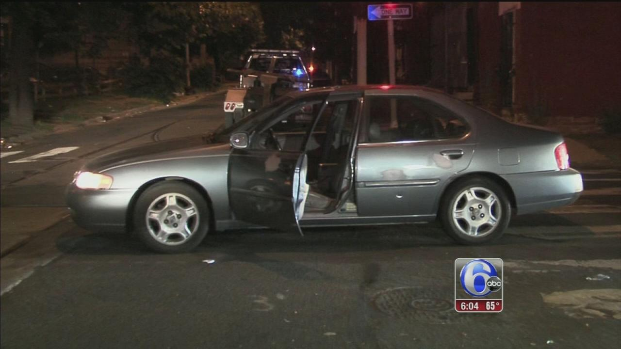 VIDEO: Man shot in car in North Philadelphia