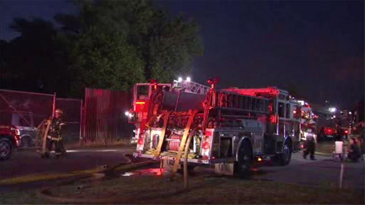 20 cars erupt in flames at junkyard in Southwest Philadelphia