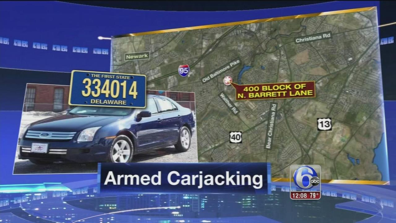 VIDEO: Suspect sought for carjacking at Newark, Del. apartments