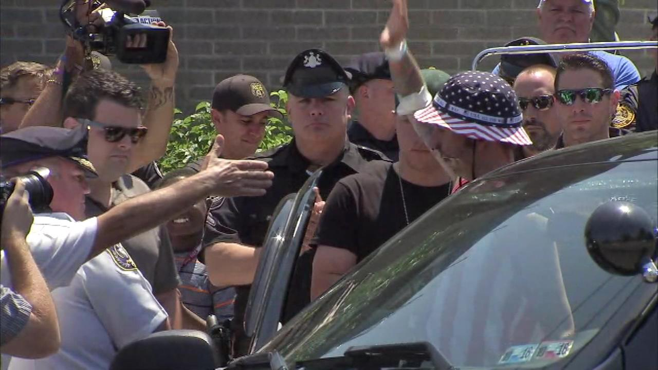 June 27, 2016: Wounded Folcroft Police Officer Christopher Dorman was released from Penn Presbyterian Medical Center Monday, just three days after being shot seven times.