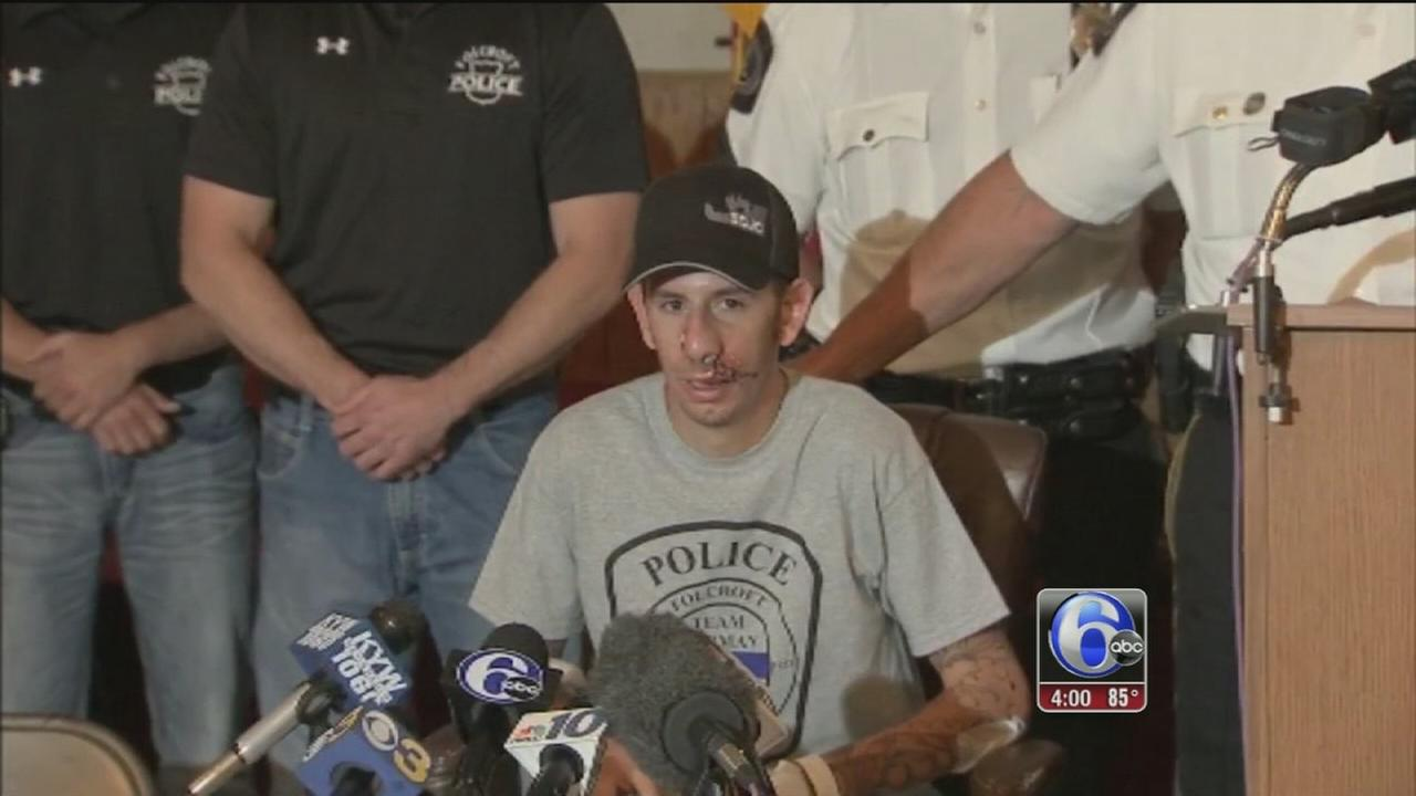VIDEO: Folcroft officer released from the hospital
