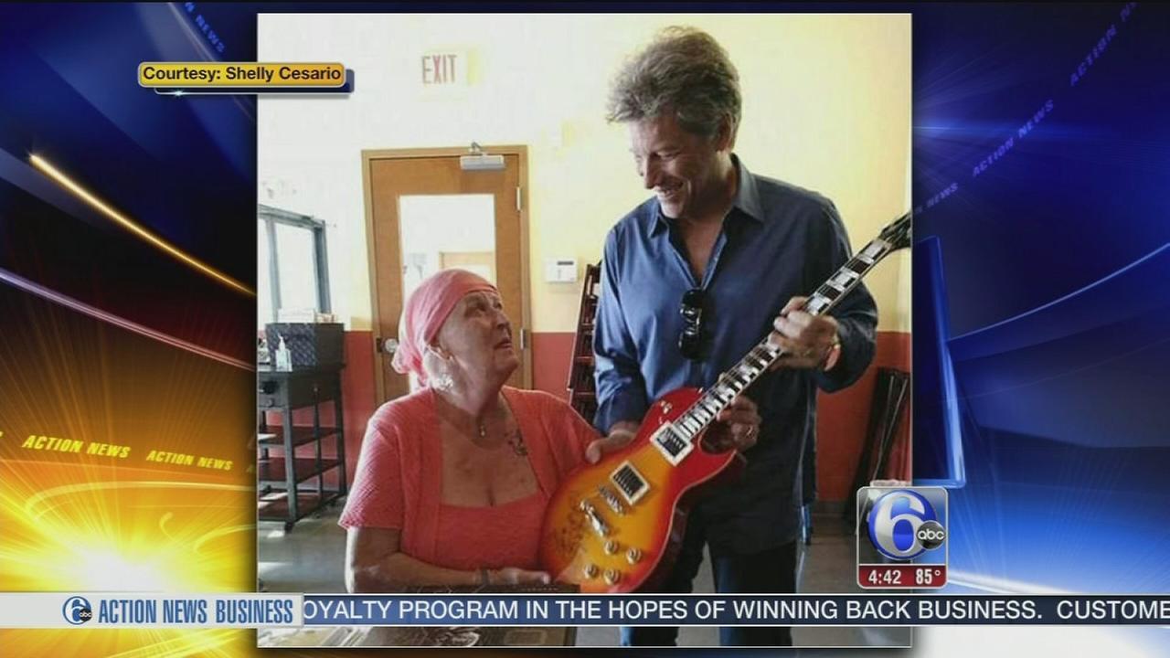 VIDEO: Jon Bon Jovi surprises cancer-stricken NJ fan with guitar, kiss