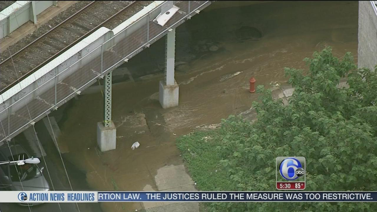 VIDEO: Water main break in North Philadelphia