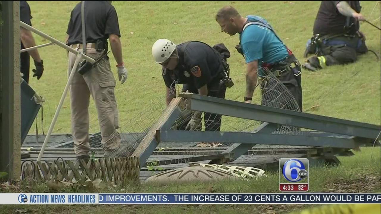 VIDEO: Man rescued after deck collapse in Pennsauken, NJ