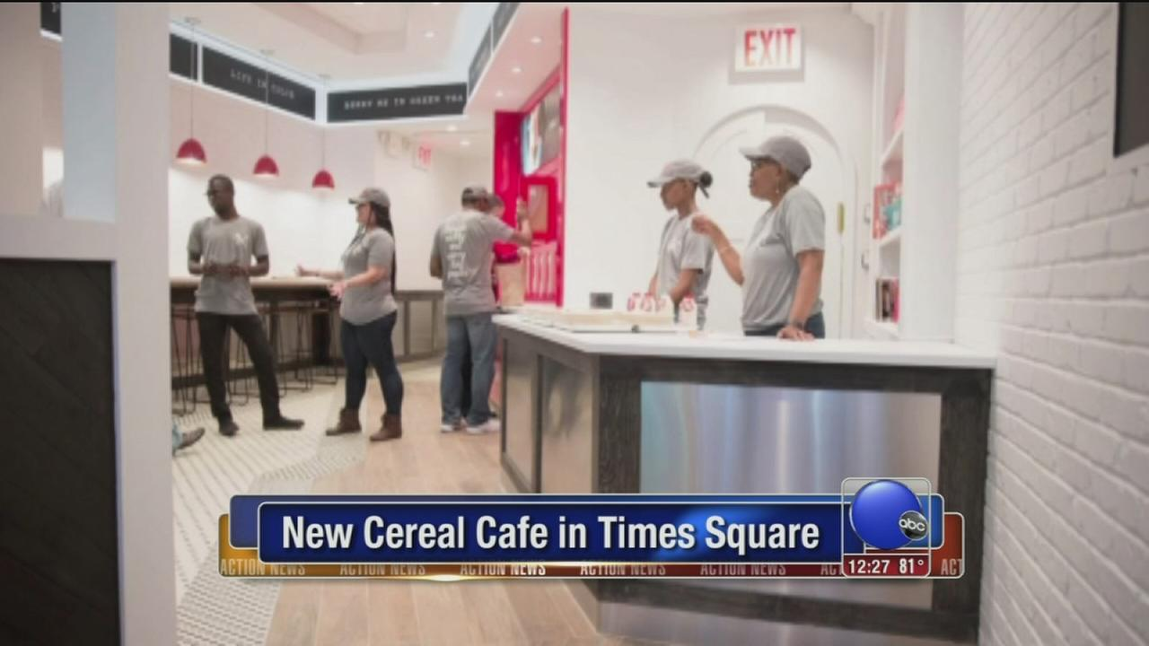 VIDEO: New cereal cafe in Times Square