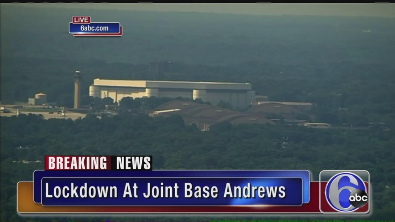VIDEO: Lockdown at Joint Base Andrews