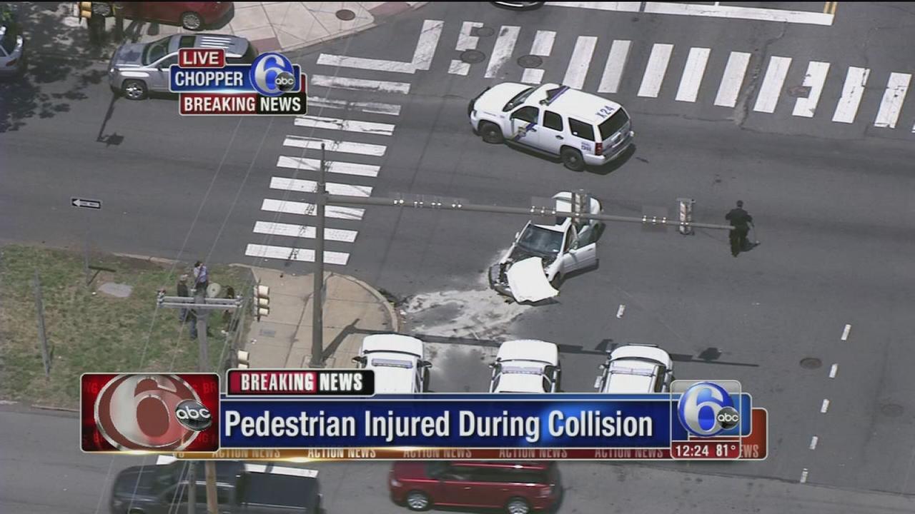 VIDEO: Pedestrian hurt in NE Philly crash