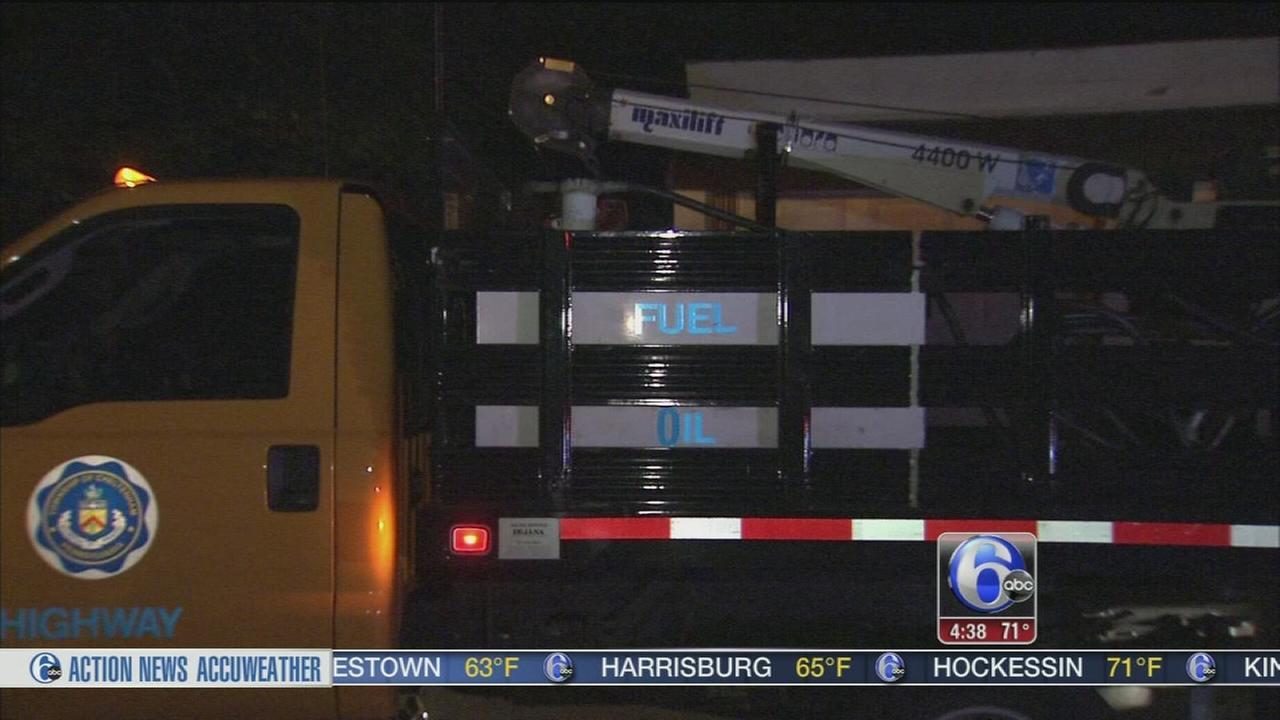 VIDEO: Fire, Hazmat crews respond to fuel spill in Montco